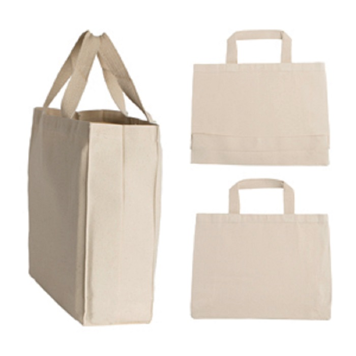 natural canvas tote shopping bag handbag personalized tote bags