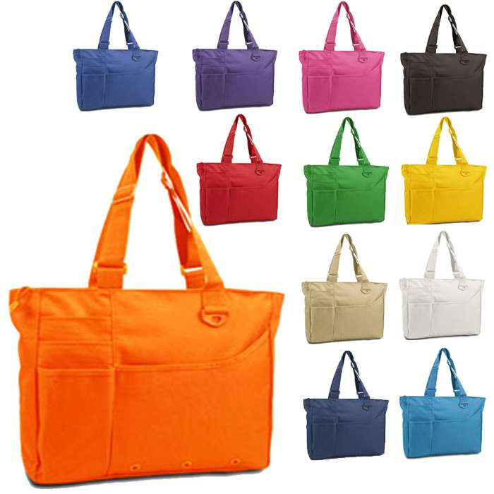 Super Feature Tote Handbag with Multiple Pockets, Women Handbags
