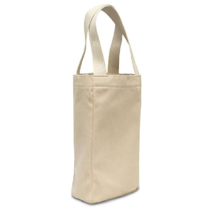 Twin Bottle Canvas Wine Tote Bag Carrier
