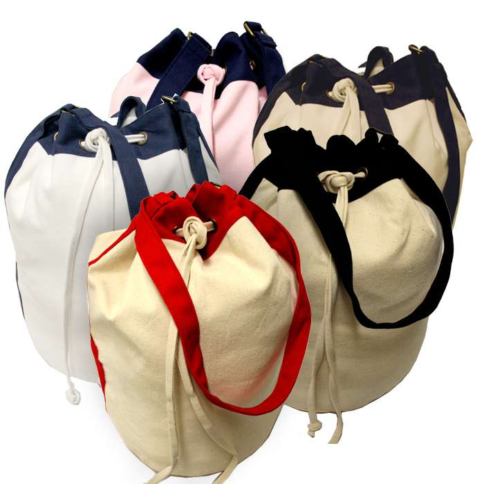 Two-Tone Over the Shoulder Beach Duffel Tote Bag, canvas bag, shoulder bag