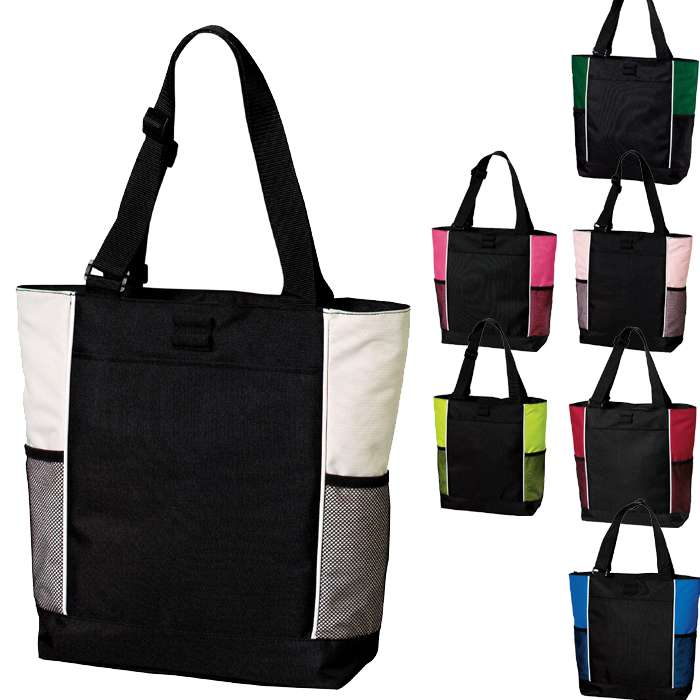 Women's Daily Carry Beach Tote Handbag, Tote Bag with Bottle Holders