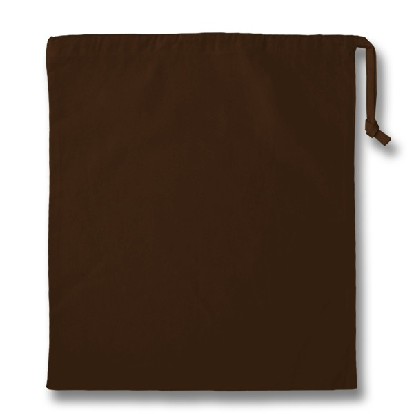 Chocolate cotton Drawstring Bag 38x43cm