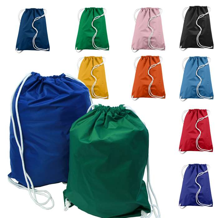 Nylon Drawstring Pouch Bag Backpack Custom Cloth