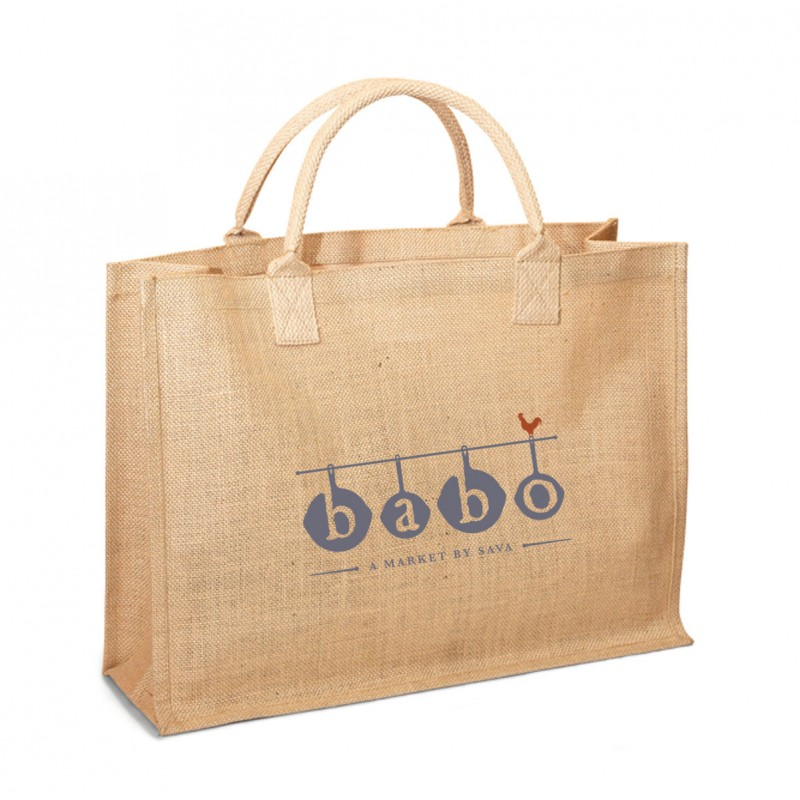 Eco-Friendly Reusable Jute / Burlap Shopping  Wedding Beach Bag