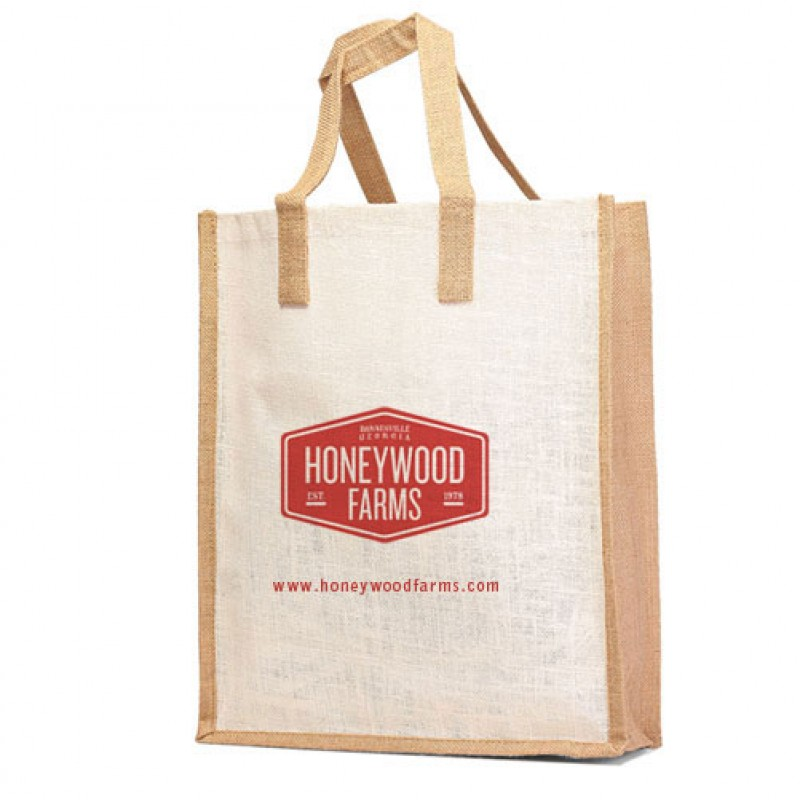 Eco-friendly Large Jute Burlap  Grocery Bag