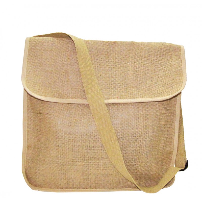 Eco-Friendly Jute/ Burlap Messenger Bag