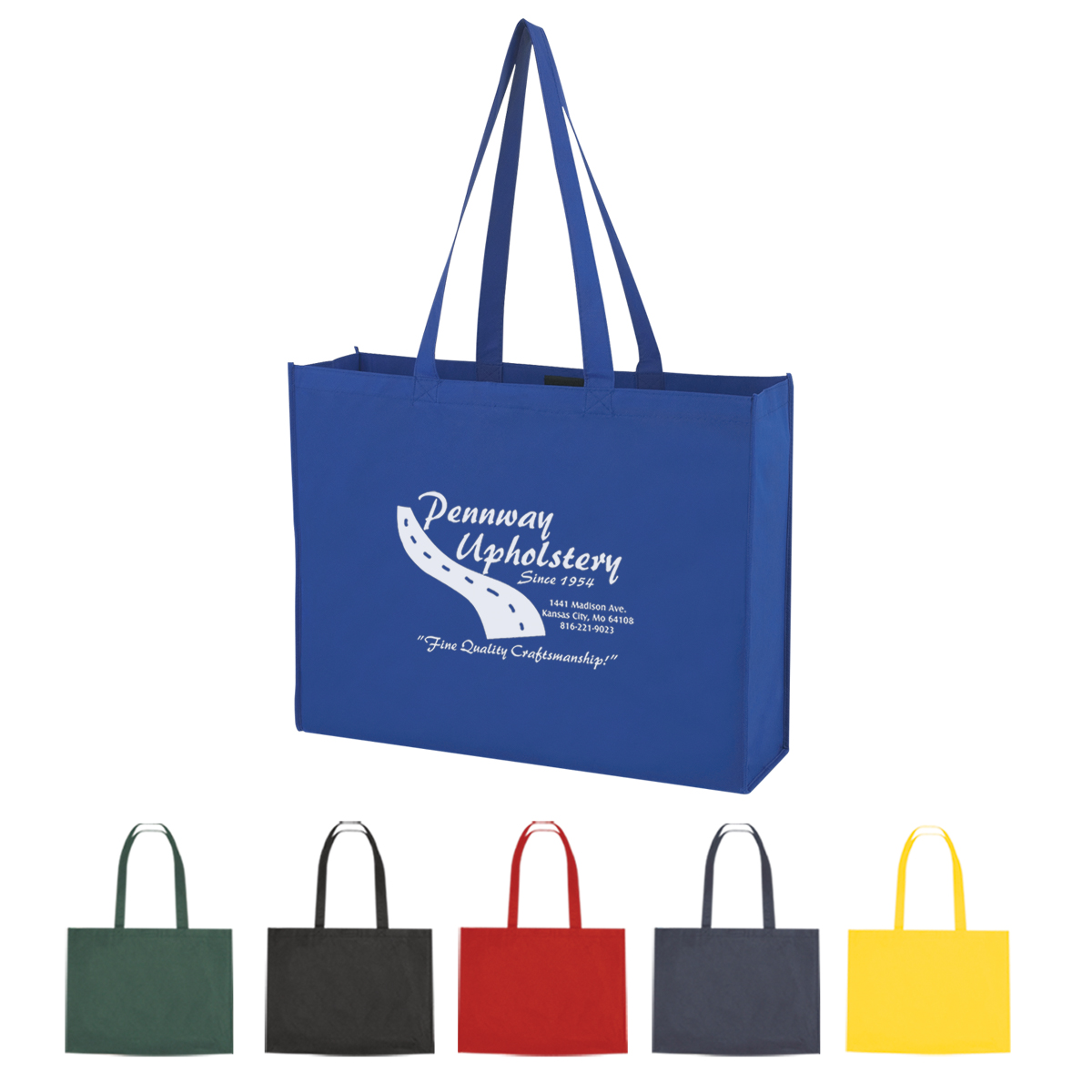 Non-Woven Shopper Tote With Velcro Closure