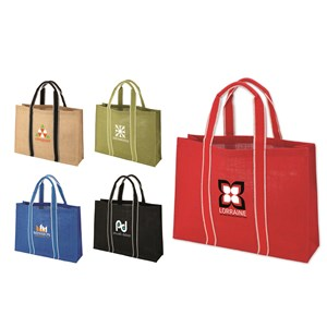 Jute Tote Bag with Rolled Handles