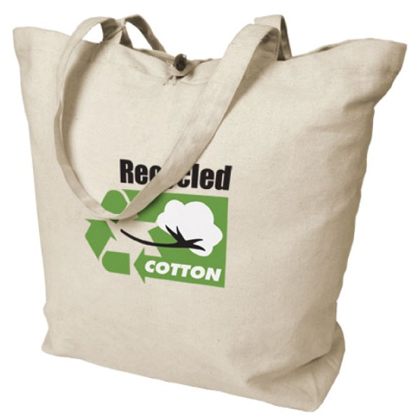 100% Recycled Cotton Grocery Tote