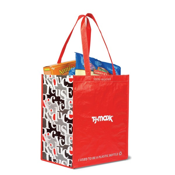 100% Recycled Laminated Shopping Bag