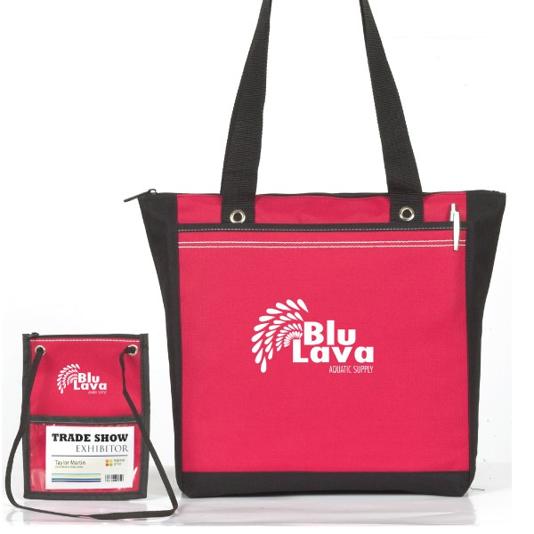 Event Combo Tote and Badge Wallet