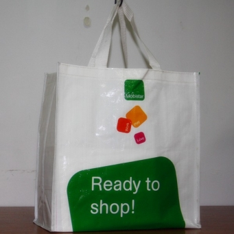 Blue reusable shopping bags for promotional
