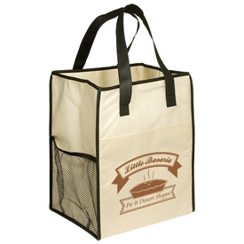 Laminated White fashion reusable promo nonwoven shopping tote bag handle