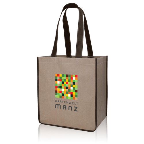 Non Woven Super Market Grocery Shopping Tote Bag With Long Strap Handle