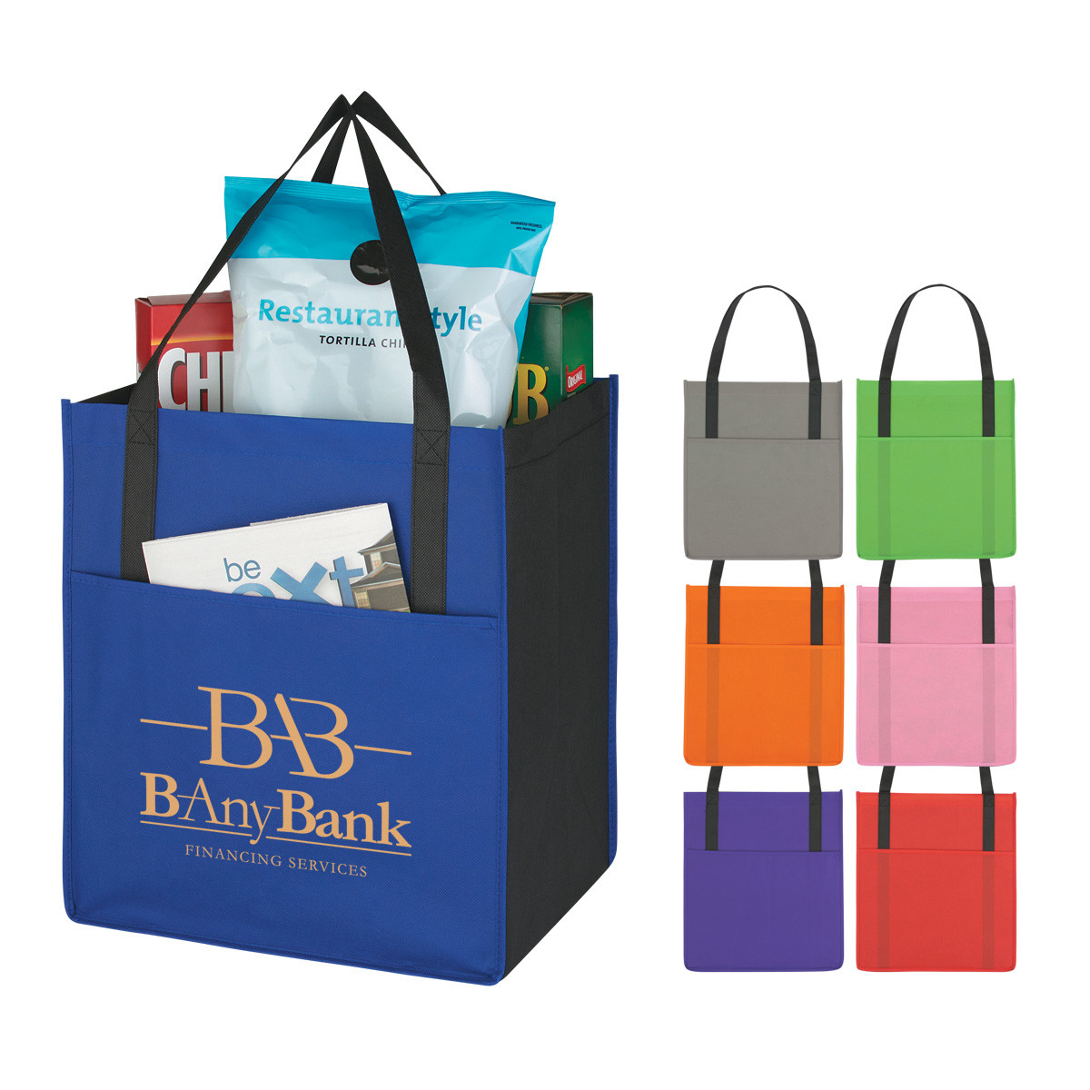 reusable shopping bags, custom tote bags, non woven bags.