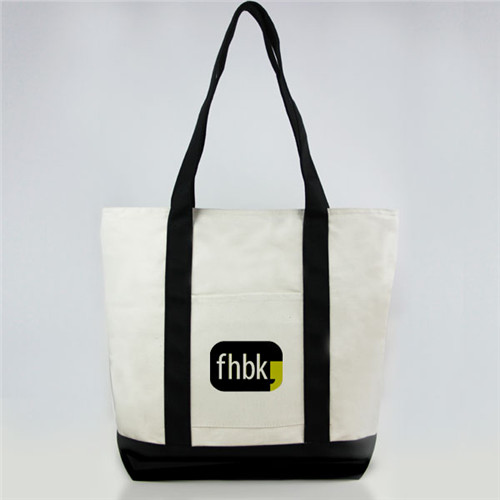 High quality OEM production cotton canvas shopping tote bag made in Guangzhou China