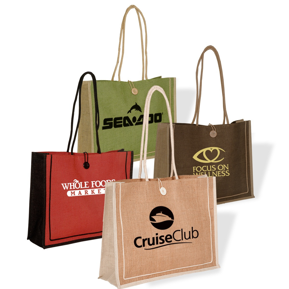 Eco customized embroidered jute bag wholesale