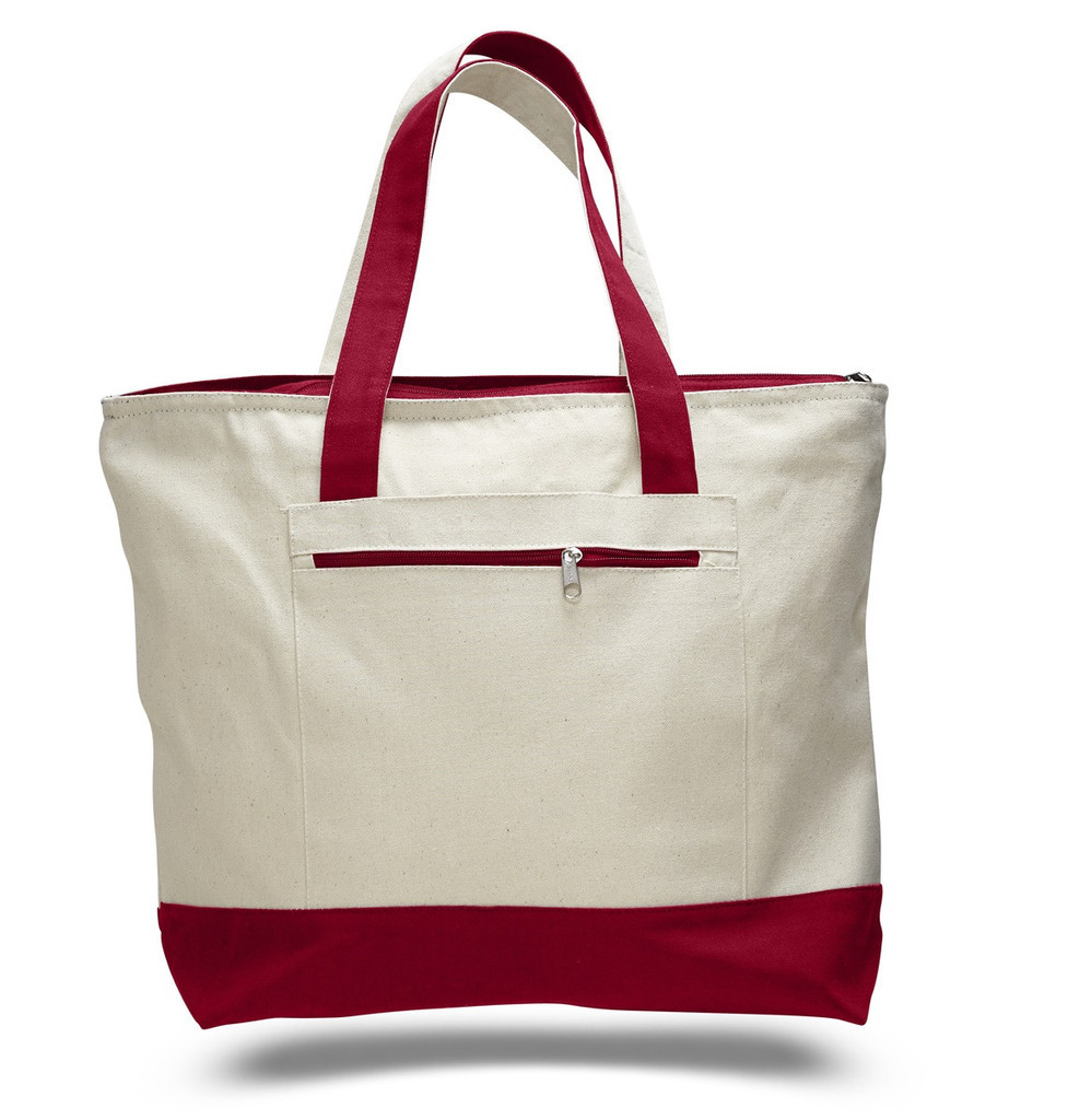 promotional two color non-woven tote - greenbagwholesale
