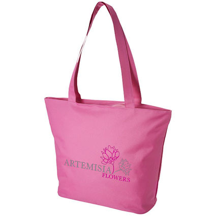 promotional polyester reusable shopping bag at low price with separate pocket