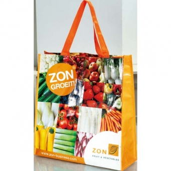 Factory Sewing Custom Design Laminated Promotional IKEA Zipper PP Woven Shopping Bag