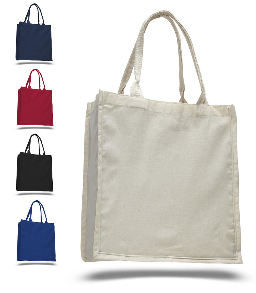 hot sell stripe canvas cotton bag
