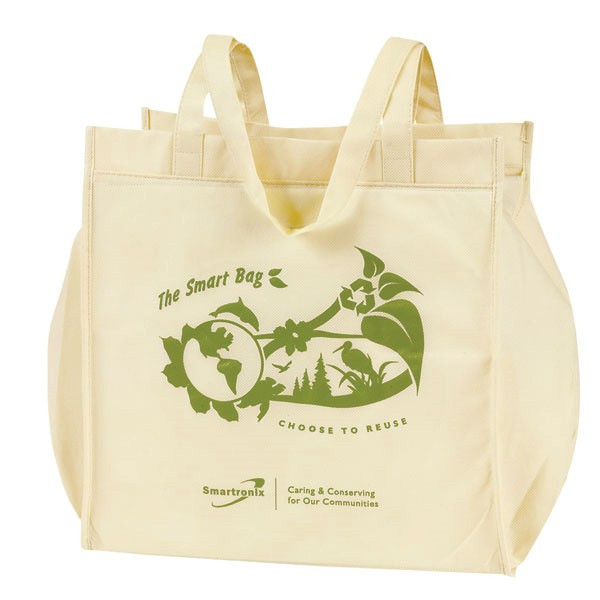 190t or 210D polyester foldable shopping bag