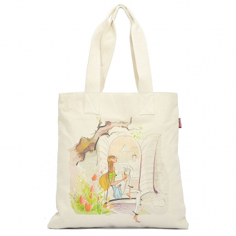 economical 100% wholesale cotton tote bags w/gusse
